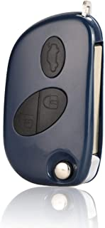 WOLDce Flip Remote Key Shell Replacement 3 Buttons Keys Case Fob,for Maserati Gran Turismo QUATTROPORTE photo
