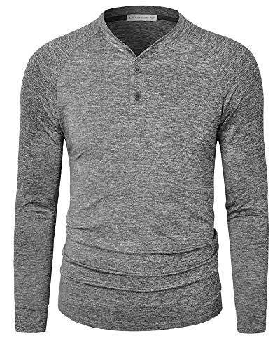 Le Vonfort Mens Long Sleeve Henley …