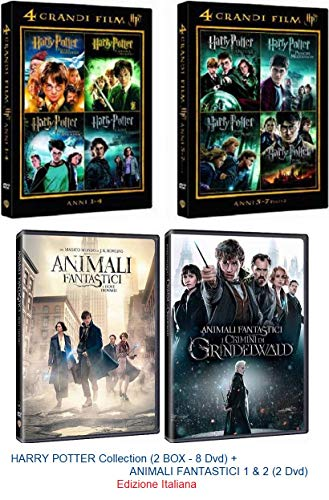HARRY POTTER Collection (2 BOX - 8 Dvd) + ANIMALI FANTASTICI 1 & 2 (2 Dvd)