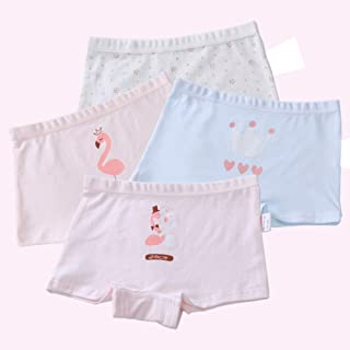 2-8 Years Old Girls Organic Cotton Underwear Cartoon Duck Boyshort Panties Multipack