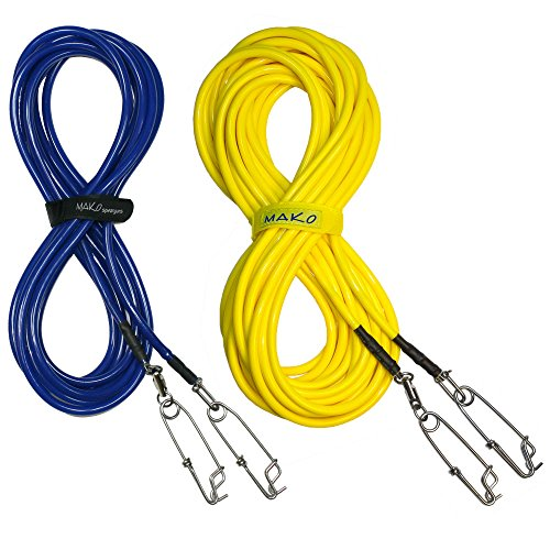 Speargun Float Line for Spearfishing & Freediving (Yellow, 75 Feet)