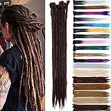 50 cm Dreadlock Extension Todo humano hecho a mano Dreadlocks de un solo extremo Extensiones de cabello trenzado de ganchillo sintético Twist Braid para hombre mujer 5pcs / paquete
