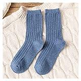 AFTWLKJ Nuevo modelo de algodón color sólido Más grueso mujeres calcetines de invierno calcetines cálidos algodón transpirable ahorrar calcetines mujeres ( Color : SCK002 4D , Size : Free size )