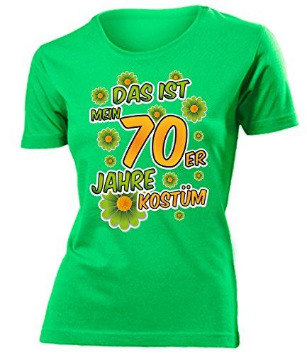 70er Jahre Kostüm Frauen T-Shirt Karneval Fasching Motto Schlager Party Geschenk Geburtstag Karnevalskostüm Gruppenkostüm Paar Disco deko Brille