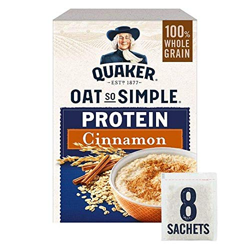 Quaker Oat So Simple Protein Cinnamon Porridge Sachets, 8 x 46g