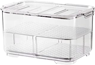 SANNO Refrigerator Food Storage Containers Stay Fresh,Food Storage Container Bin Stackable Refrigerator Freezer Organizer ...