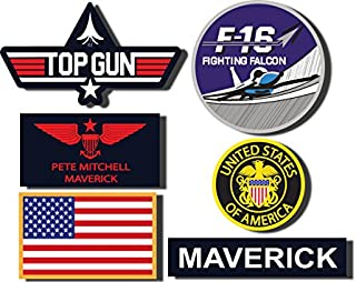 Stickerzzz!!! Top12 Maverick Top Gun Decal Set - Set Of 6 Digitaly Printed Outdoor Stickers 01