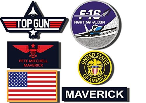 Maverick-Set di Top Gun-Set di 6 adesivi Digitaly 01, per esterni