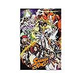 BNYF Póster de Shaman King 2021 Anime Poster Pintura decorativa Lienzo de pared Arte de Sala de estar Carteles de Dormitorio Pintura de 20 x 30 cm
