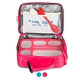 East World Bento Box Meal Prep and Food Storage Containers (PInk With Big Bag, 1)