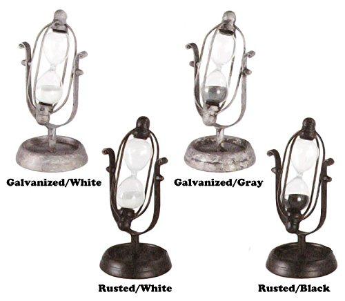 宇宙を連想させるようなデザインの砂時計【DULTON GS455-229 Astro hourglass(S) ダルトン アストロアワーグラス(S)】 (Galvanised/Gray)