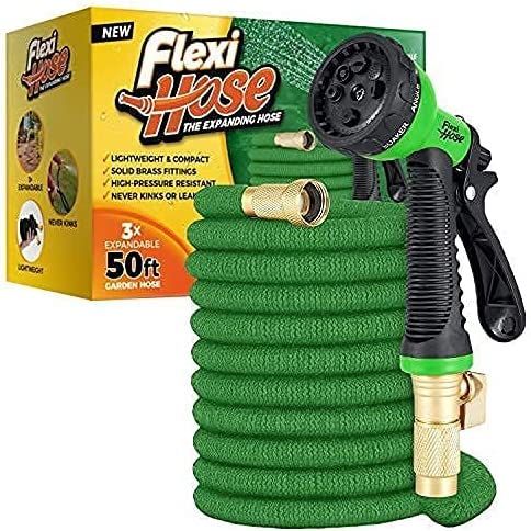 wholesale Flexi Hose with 8 Function Nozzle, Lightweight Expandable Garden Hose, online sale No-Kink Flexibility, 3/4 Inch Solid Brass Fittings and Double Latex new arrival Core sale