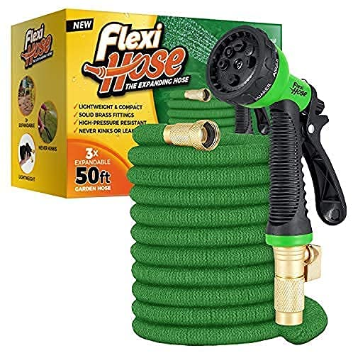 3/4 Inch Solid Brass Fittings Flexi Hose with 8 Function Nozzle Only $24.99 (Retail $54.99)