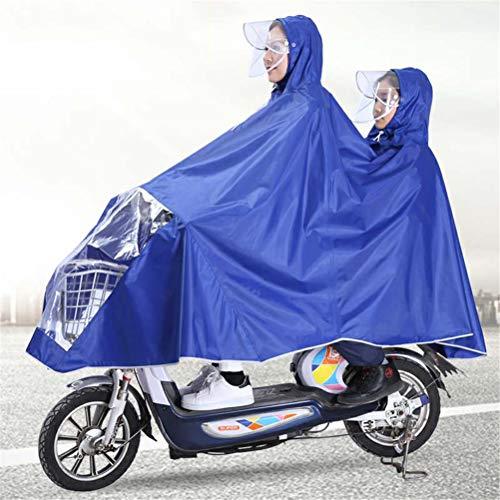 Volwassenen En Kinderen Dubbele Poncho, Elektrische Motorfiets Dubbele Rand Verdikte Verhogen Ademend Outdoor Portable Camping Poncho