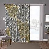 YUAZHOQI Cortina opaca para puerta corredera, periódicos antiguos, revistas de revistas, 100 x 108 pulgadas de ancho paneles de cortina opaca para dormitorio (1 panel)