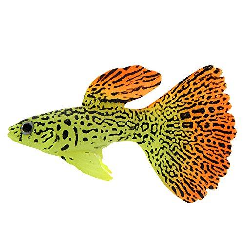 Muamaly Aquarium Künstlichen Fisch Glühende Kunststoff Lebensechte Goldfisch Schwimmend Dekoration Ornament (C)