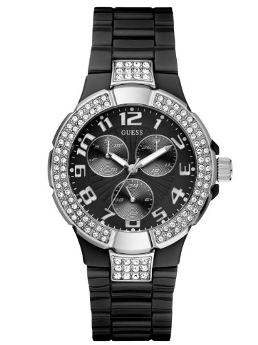 GUESS U11622L4 Status In-the-Round Watch - Black Polyca: Watches