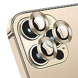 Deyooxi Protector Cámara para iPhone 12 Pro Max,(3 Pack) Vidrio Cristal Templado Cámara Lente Protector Pantalla para iPhone 12 Max,Oro