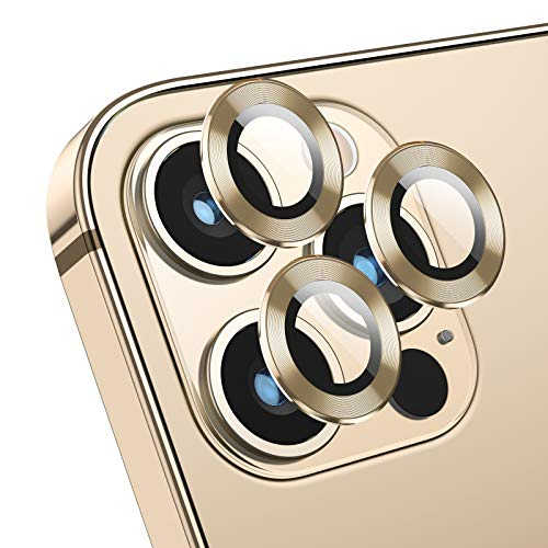 Deyooxi Kameraschutz Panzerglas kompatibel mit iPhone 12 Pro Max,[3 Stücke] Kamera Panzerglas Schutzfolie,Anti-Kratzer Kamera Displayschutzfolie Panzerglasfolie Glas Folie,Gold