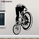jiushivr Dirt Bike Decal Style Bicicleta Pegatina de Pared Vinilo Decoración para el hogar Niños Chicos Adolescente Habitación Arte Mural Wallpape42x65cm