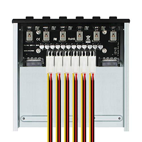 NIANNIAN Intelligentes 4/6-Festplattencontroller-Verwaltungssystem Hub HDD SSD-Netzschalter-CEE-Adapter