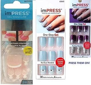 ImPress Press-On Manicure & Pedicure Combo (Pack of 3)