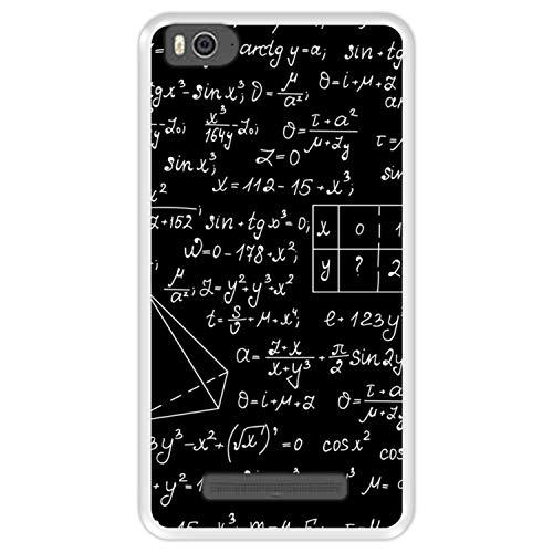 Hapdey Custodia per [ Xiaomi Mi 4c - Mi 4i ] Disegni [ Calcoli matematici con grafici algebrici, soluzioni di compiti ] Cover Guscio in Silicone Flessibile Transparente TPU