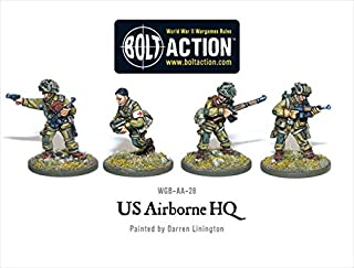 Us Airborne Hq, 28mm Bolt Action Wargaming Miniatures