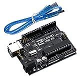 ELEGOO UNO R3 Mikrocontroller Board ATmega328P ATMEGA16U2 Hauptplatine mit USB-Kabel Kompatibel mit Arduino Entwicklungsumgebung