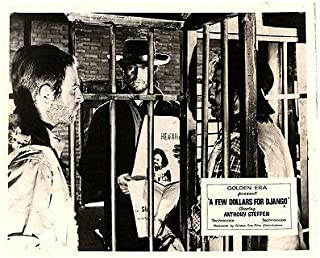 A Few Dollars for Django Original Lobby Card Anthony Steffen Jail Wanted Poster