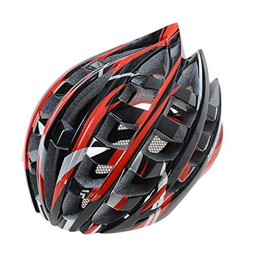 YXDEW Casco de la Bici de la Bicicleta Cascos Hombres Mujeres Transpirable Casco de Ciclista Transpirable Visera MTB Protector de Cabeza Carretera Cascos Motocicleta (Color : Red Bike Helmet)