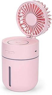 Pequeño Ventilador eléctrico portátil, humidificación por pulverización, refrigeración, Aire Acondicionado, Dormitorio para Estudiantes, Enfriador de Aire Recargable por USBXYQB