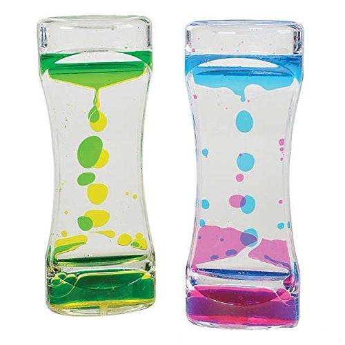 Neliblu Liquid Motion Timer - Bubble Motion Relaxation Sensory Toy for Sensory Play, Fidget Toy, Children Activity, Office Desk Top, Assorted Colors 1 Per Unit
