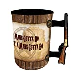 John Wayne 16oz Mug with Rifle Handle - 'A Man's Gotta Do...'
