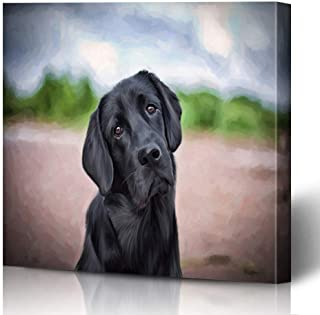 black lab dog drawing