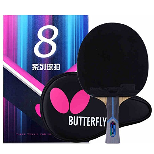 Ping Pong Paddle by Butterfly | 802 Ping Pong Paddle Set | Butterfly Ping Pong Paddle Case | Arylate Carbon Table Tennis Racket with Table Tennis Racket Case | Professional Table Tennis Racket Set