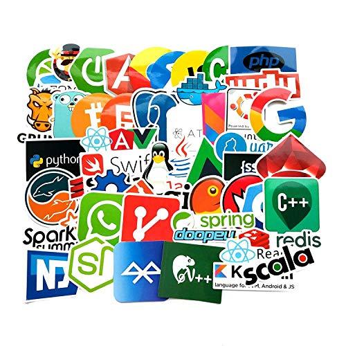 Wawale programmeerstickers, graffiti-stickers voor laptop, mobiele telefoon, waterdicht (100 foto's)
