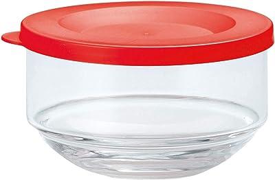 東洋佐々木ガラス 保存容器 レッド 約φ10.1×6.1cm 漬け物 小出し用キーパー B-31301-R-JAN