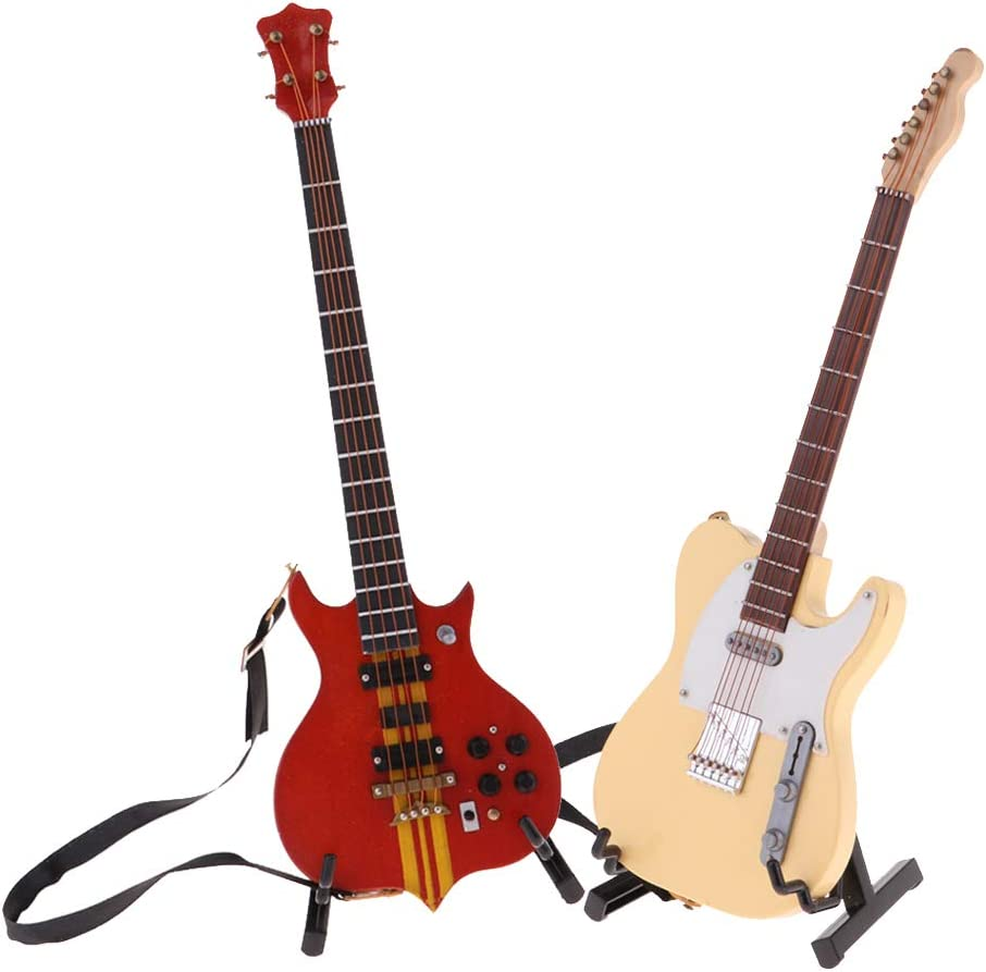 shamjina Set of 2 Mini Wooden Guitar 1 6 Model Doll Max 43% OFF OFFicial Ho W