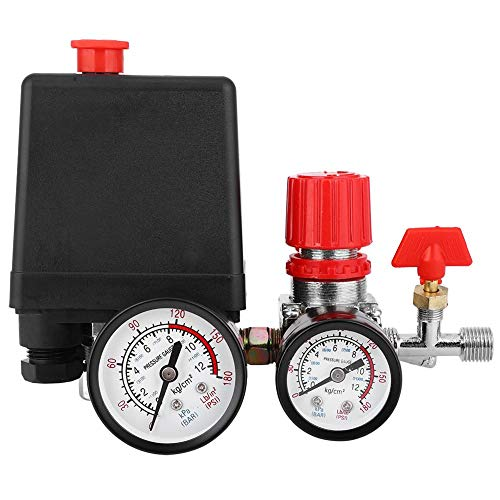Hilitand - Commutateur de vanne de pression d'air, manomètre en fer