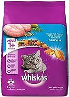 Whiskas Adult (+1 year) Dry Cat Food, Ocean Fish Flavour, 3kg Pack