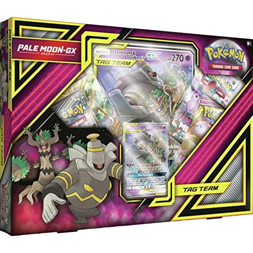 Pokemon TCG: Pale Moon-Gx Box | 4 Booster Pack | A Foil Promo Card | A Oversize Foil Card