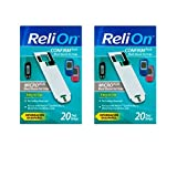 ReliOn Confirm/Micro Plus Blood Glucose Test Strips, 20 Ct (2 Pack)