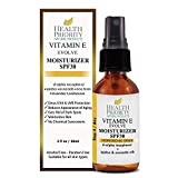 Hydratant Naturel à la Vitamine E + SPF 30. Crème solaire hydratante, non grasse, parfaite pour le visage et sous le maquillage. Écran total minéral sans produits chimiques ni parabènes.