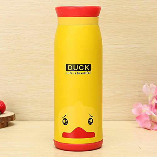 Aliciashouse Aspirateur Animal Cartoon Flask Thermos Cup Eau Thé Bouteille 500ML -Duck