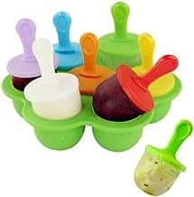 stampo mini con manico. tipo Popsicle Himki Set di 9 stampi per preparazione in casa di ghiaccioli per yogurt gelato