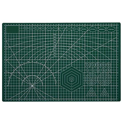 HEITIGN A3 Cutting Mat, Self Healing Sewing Mat, 45x30cm Double Sided Cutting Mat Board Patchwork Tools Manual DIY Tool Cutting Board for Crafting, Quilting, Sewing, Scrapbooking