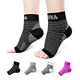 Ankle Brace for Men Women Pair AVIDDA Plantar Fasciitis Socks with Arch Support Compression Ankle Support Foot Sleeve for Achilles Tendon Support Swelling Eases Heel Pain Relief Black Medium