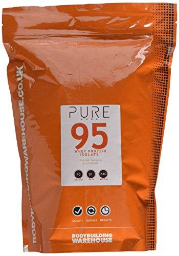 Bodybuilding Warehouse Pure Whey Protein Isolate 95 Powder Italian Vanilla Milkshake 1 kg