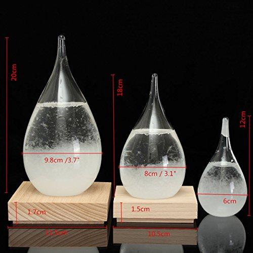 Aliciashouse Tempo storm glazen druppels weersvoorspelling waterdruppels vorm Crystal weersvoorspelling kristalloid decor